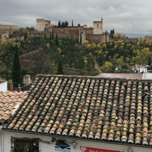 Alhambra through the clouds